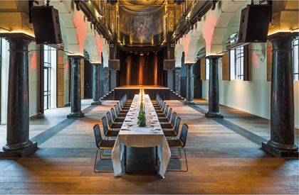Hotel Arena Amsterdam Meetings Events Chapel dinner